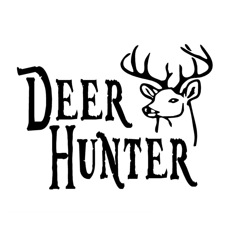 Drawn hunting deer logo Deer 7CM*9 Online 12 Sticker