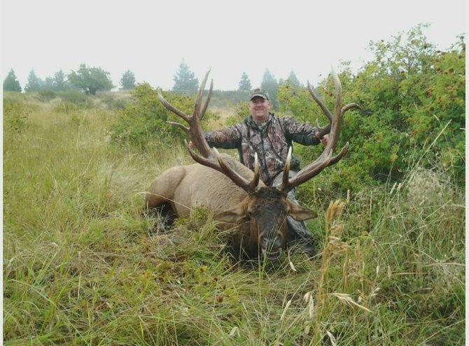 Drawn hunting elk antler  by point of Washington