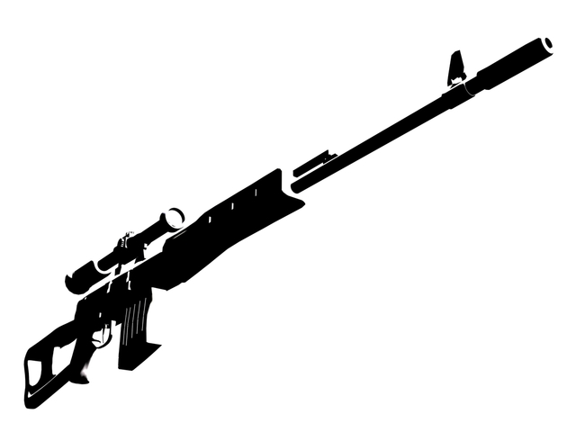 Drawn hunting Rifle thing important some notice