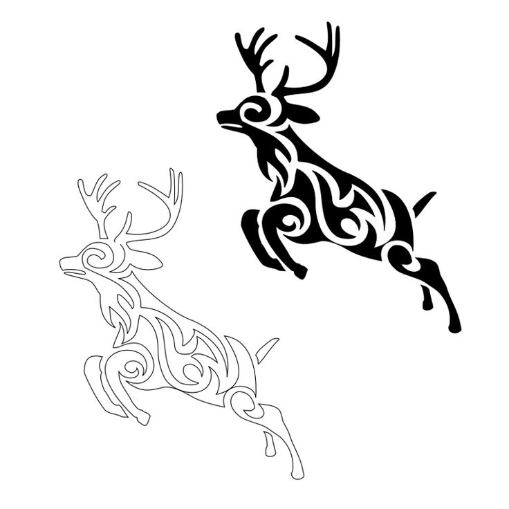 Drawn reindeer tribal Hunting images Tattoos Pin best