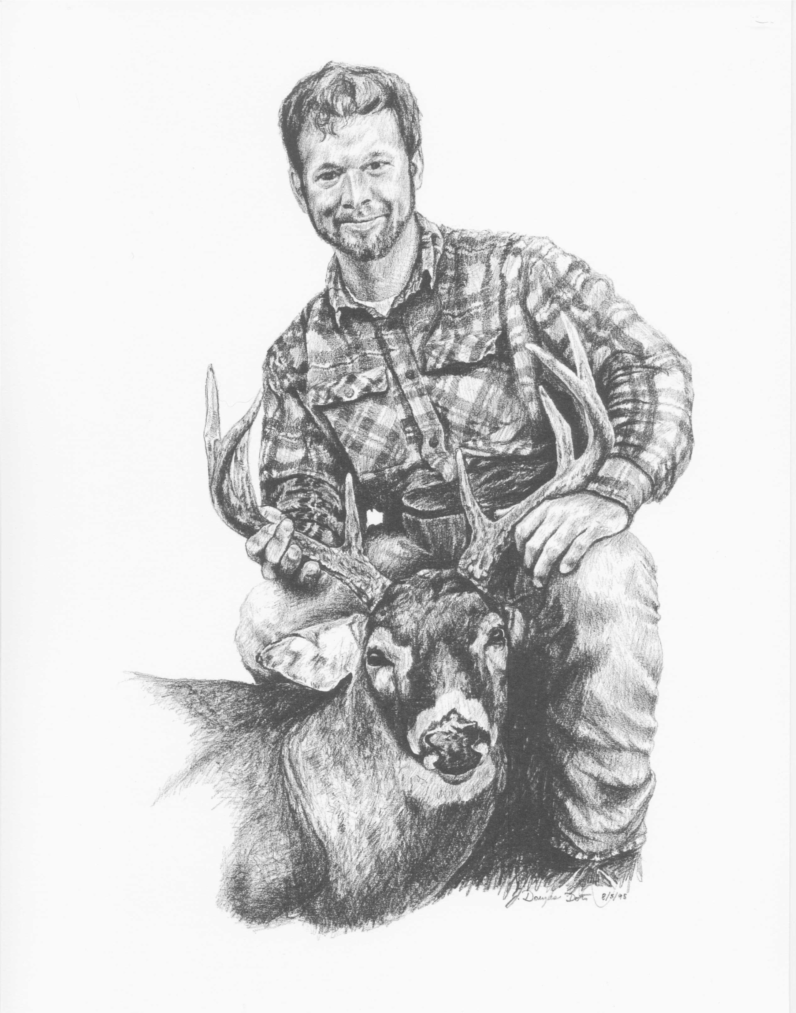 Drawn hunting whitetail deer And Services buck whitetail Whitetail