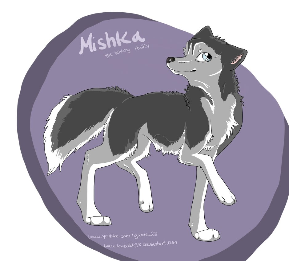 Drawn husky mishka (again by Mishka! :3) LexiBuddy98
