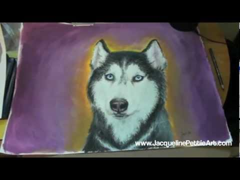 Drawn husky mishka Mishka Painting lapse the Time