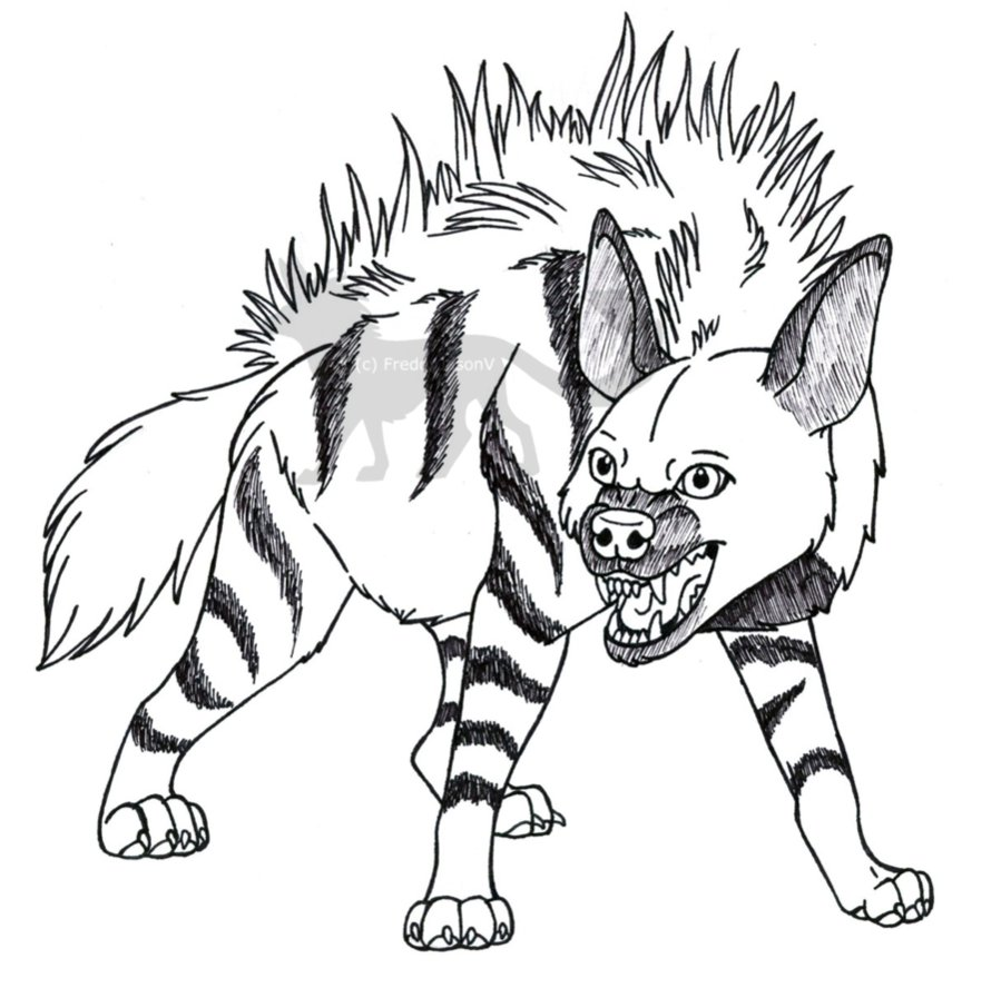 Drawn hyena CrazyCrocuta by DeviantArt by Striped