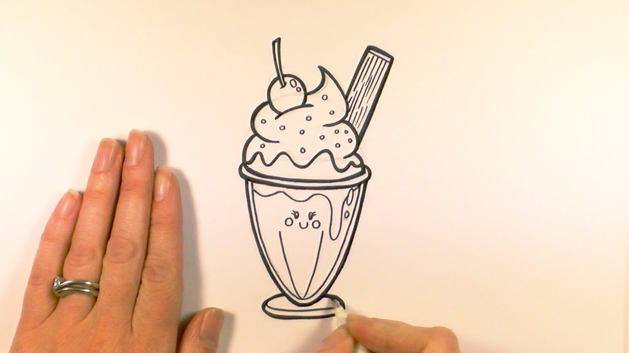 Drawn ice cream How Sundae YouTube Cartoon Cream