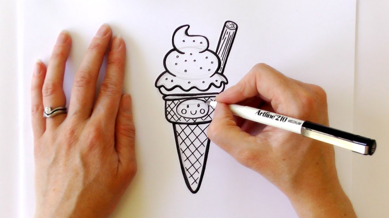 Drawn ice cream How Cone YouTube Cartoon Cream