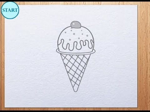 Drawn ice cream How cream to draw How