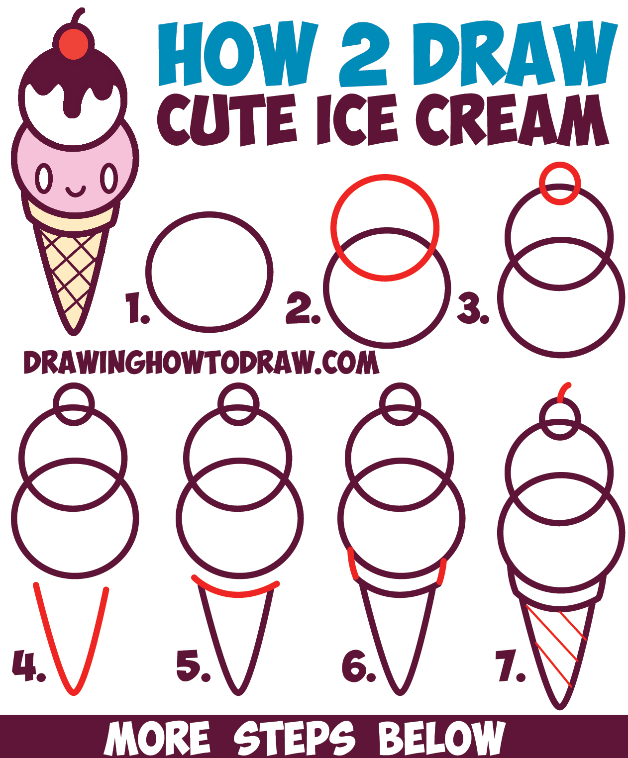 Drawn ice cream beginner step by step To Cream Cute on How