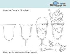 Drawn ice cream beginner step by step Simple Ice cream Step by