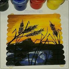 Drawn ice cream body paint @arts под Sticks Painting Cream