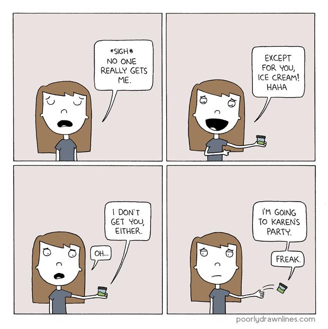 Drawn ice cream comic – Food %link Poorly Lines