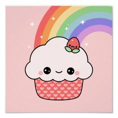 Drawn ice cream cute A to Piece Poster Cupcake