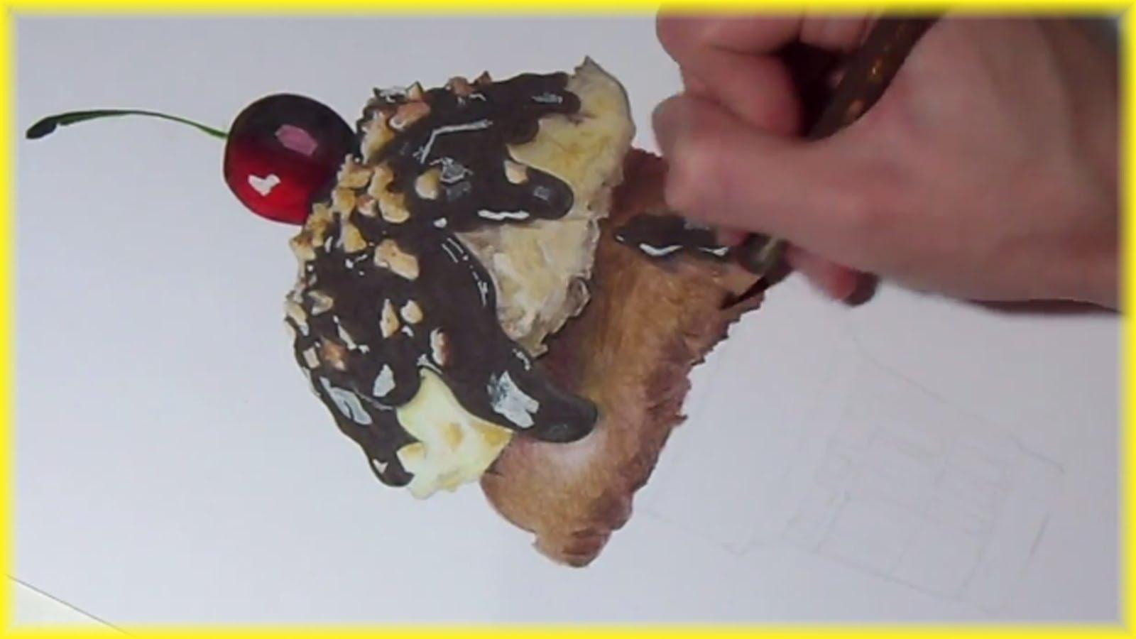 Drawn ice cream pencil drawing Cream Sundae! DRAWING: YouTube An