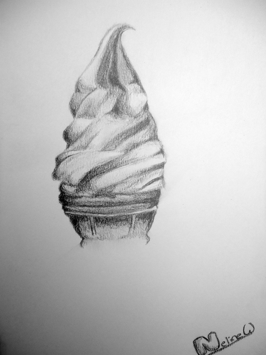 Drawn ice cream pencil drawing Tumblr Drawing Cream Cream Cone