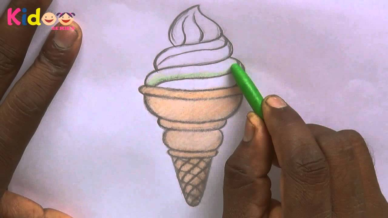 Drawn ice cream pencil drawing Learning Easy for Ice Kids!