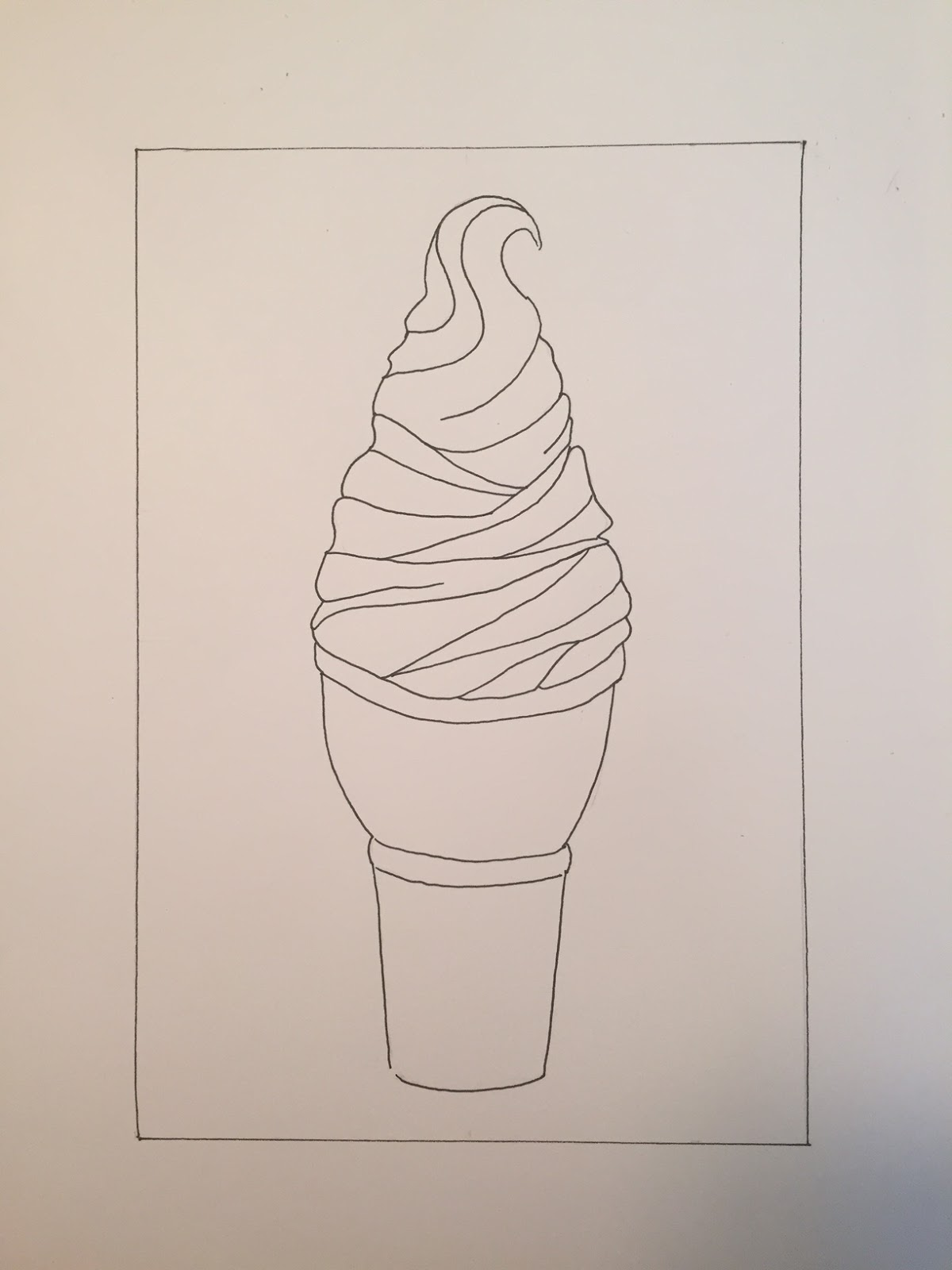 Drawn ice cream Ice idea Zentangle I cream