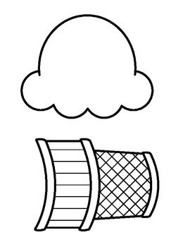 Ice Cream clipart top Ice B&W outline Cone cream