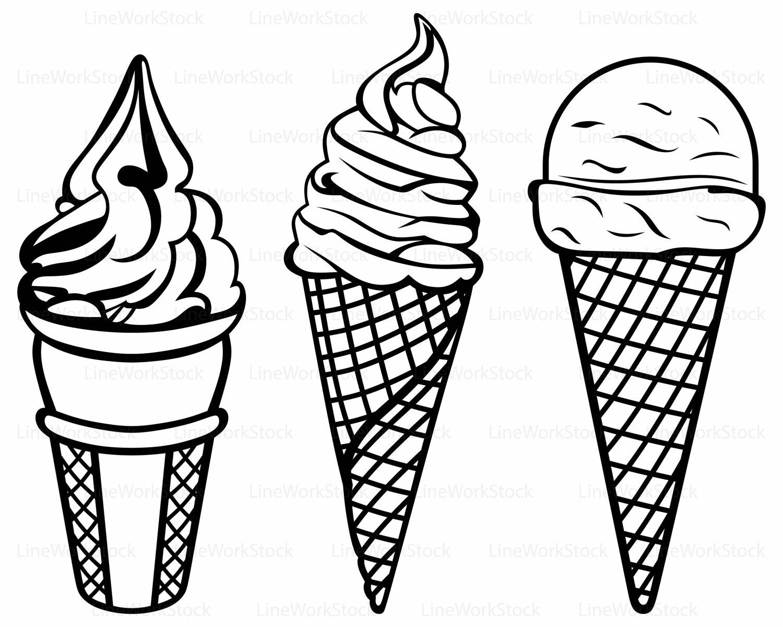 Drawn ice cream soft serve File Ice This ice