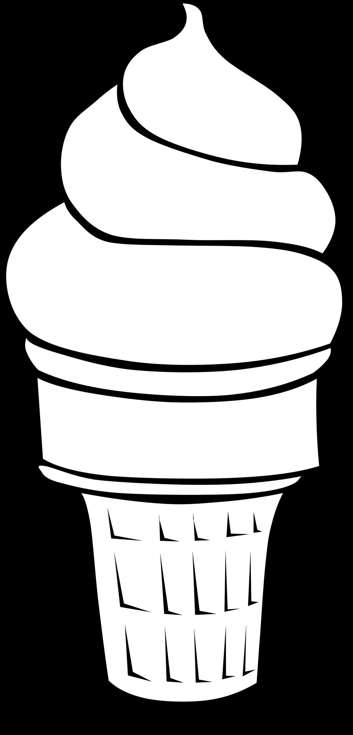 Drawn ice cream soft serve Cream Cones Fast Clipart Serve