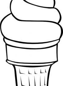 Drawn ice cream soft serve Cone B Soft  Clip
