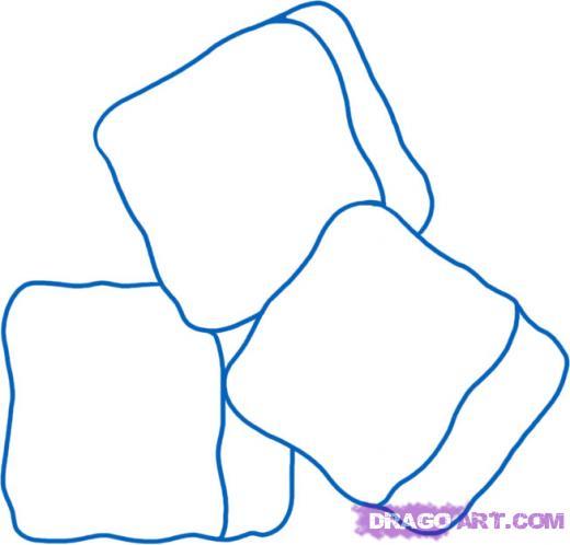 Drawn ice Draw a to Drawn Ice