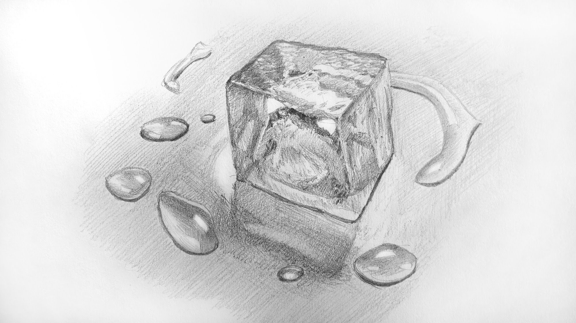 Drawn water droplets cute Ice Cube Water ✔ Ice