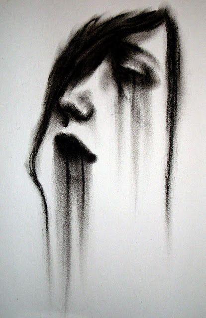 Drawn sad sad face A #AdultFiction Dark From Long