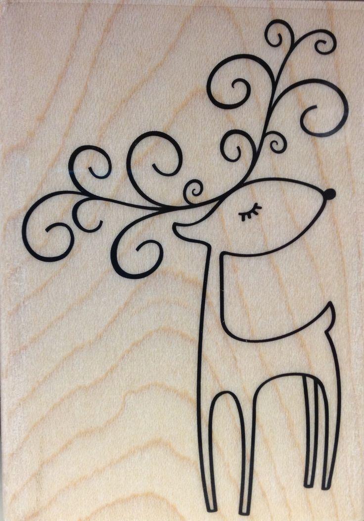 Drawn reindeer card easy Ideas Christmas Christmas Winter drawing