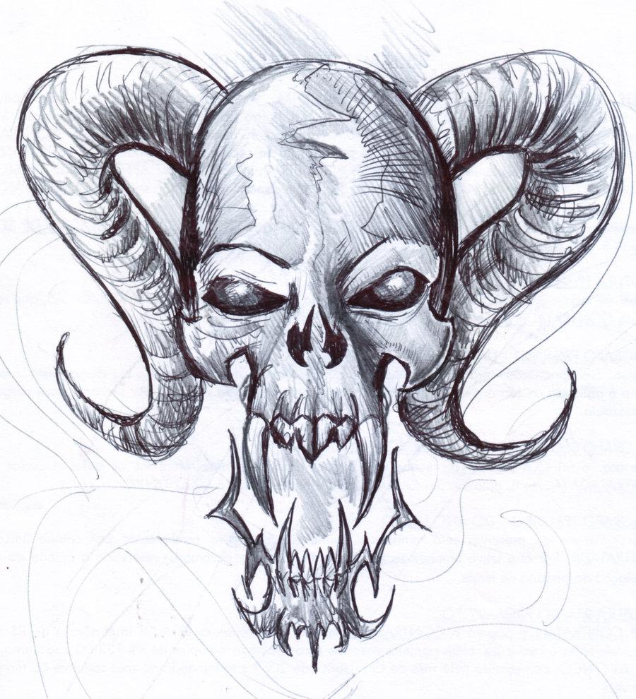 Drawn skull gothic skull By fast skull Skull sketch
