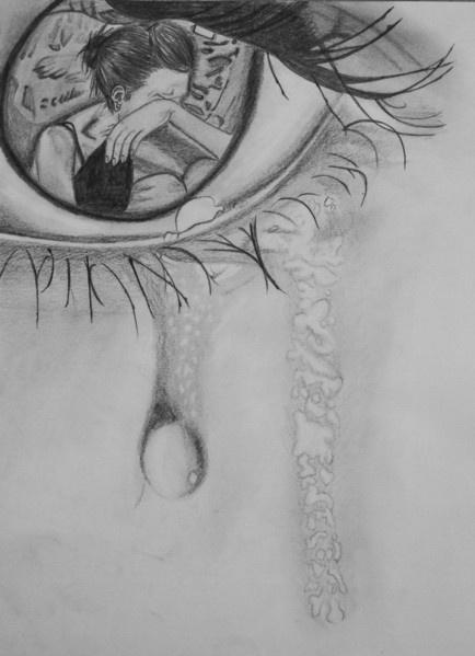 Drawn sad happiness Zeichen eyes Kunterbund sad draw