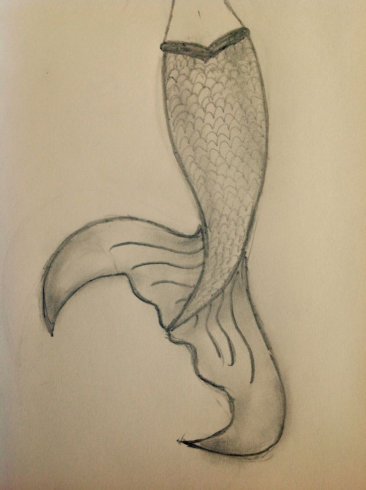 Drawn idea Simple 10 on mermaid with