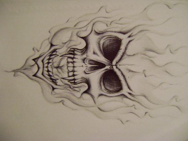 Drawn smoke skull On on Pinterest by DeviantArt