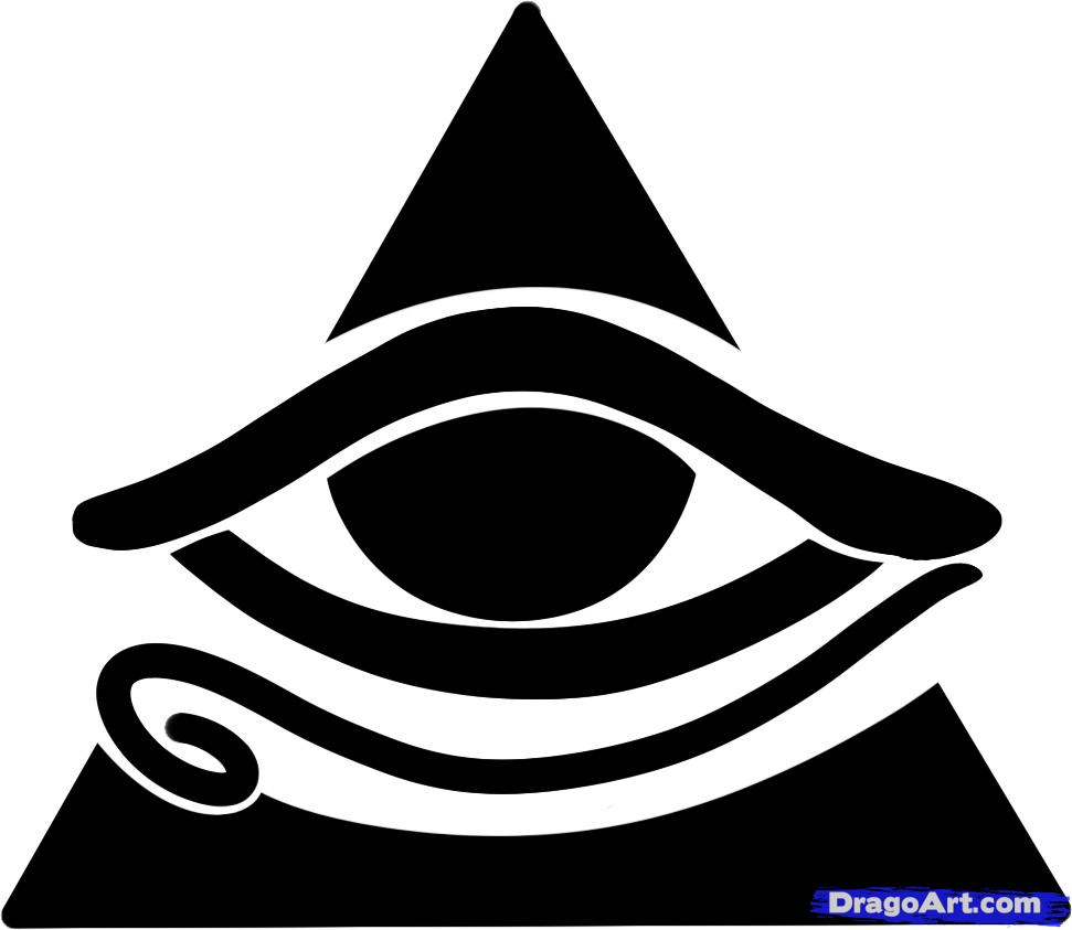 Drawn pyramid all seeing eye Step to All How