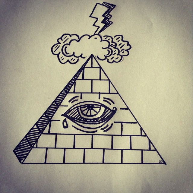 Drawn pyramid all seeing eye #design on Instagram #MyDesignRenova #illuminati