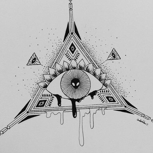 Drawn illuminati alien Cool Spiritual Art trippy alien