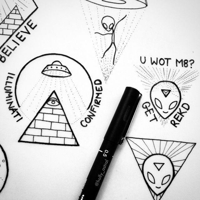 Drawn illuminati alien This best alien A for