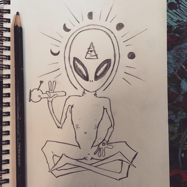 Drawn illuminati alien Illuminati art c20 alien n30