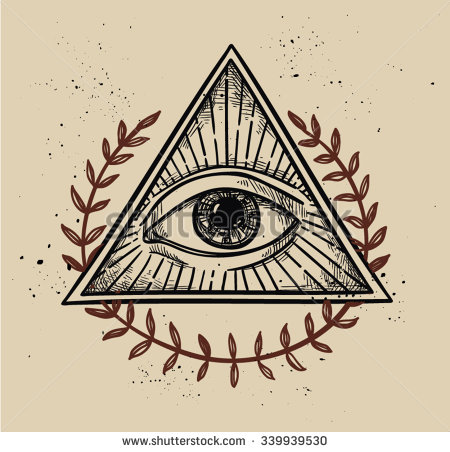 Drawn pyramid masonic Vector pyramid pyramid Vintage eye