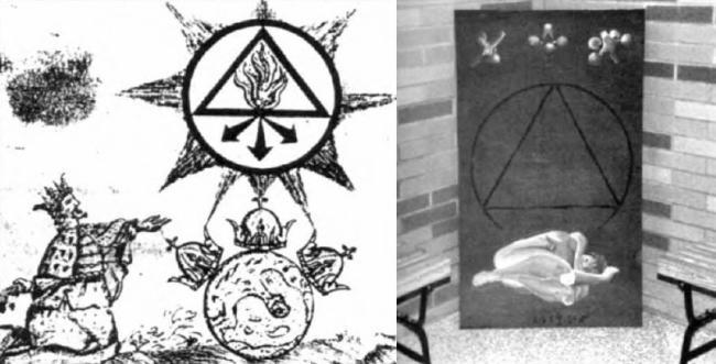 Drawn illuminati anti Symbol This Muslims Triangle Occult