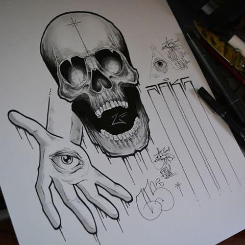 Drawn illuminati graffiti Vuelta mano Marcos clásicos los
