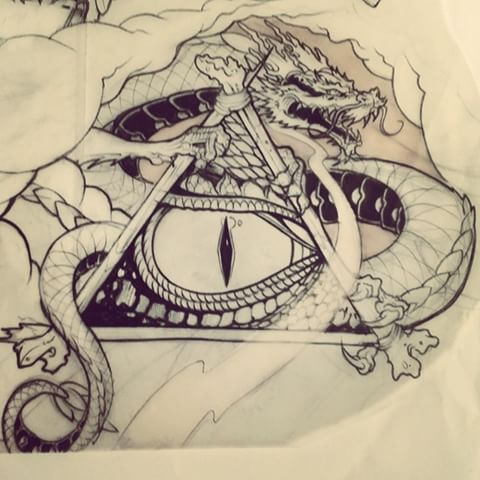 Drawn illuminati graffiti A # oner to addition