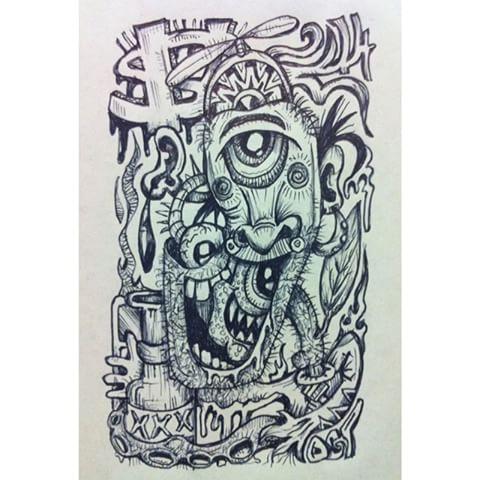 Drawn illuminati graffiti Bic Poggenpoel photos #drawing #illustration
