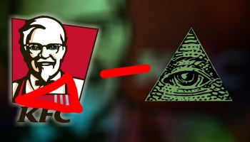 Drawn illuminati kfc : KFC faux  Macron