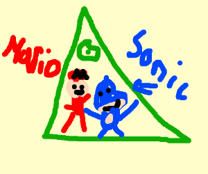 Drawn illuminati kfc Join Mario Sonic illuminati Sonic