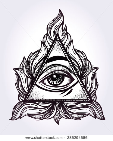 Drawn pyramid masonic Eye Order Order Providence of