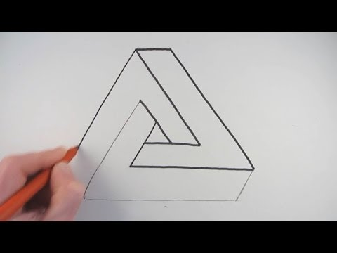 Drawn shapes easy drawing A a Way Impossible to