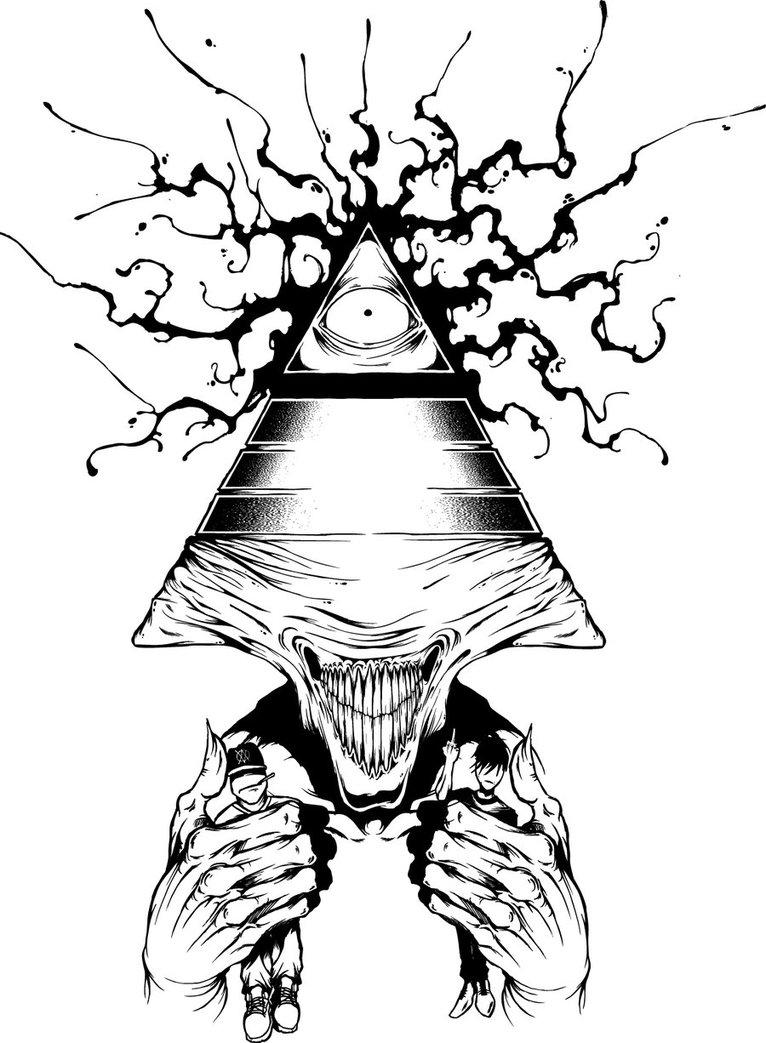 Drawn illuminati tumblr wallpaper By The ShawnCoss The by