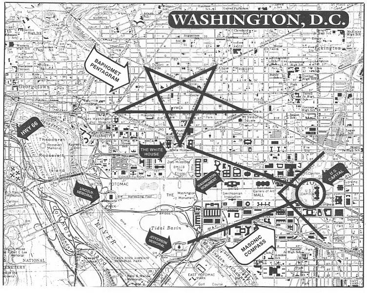 Drawn illuminati washington monument Satanic original whitehouse layout1 dc