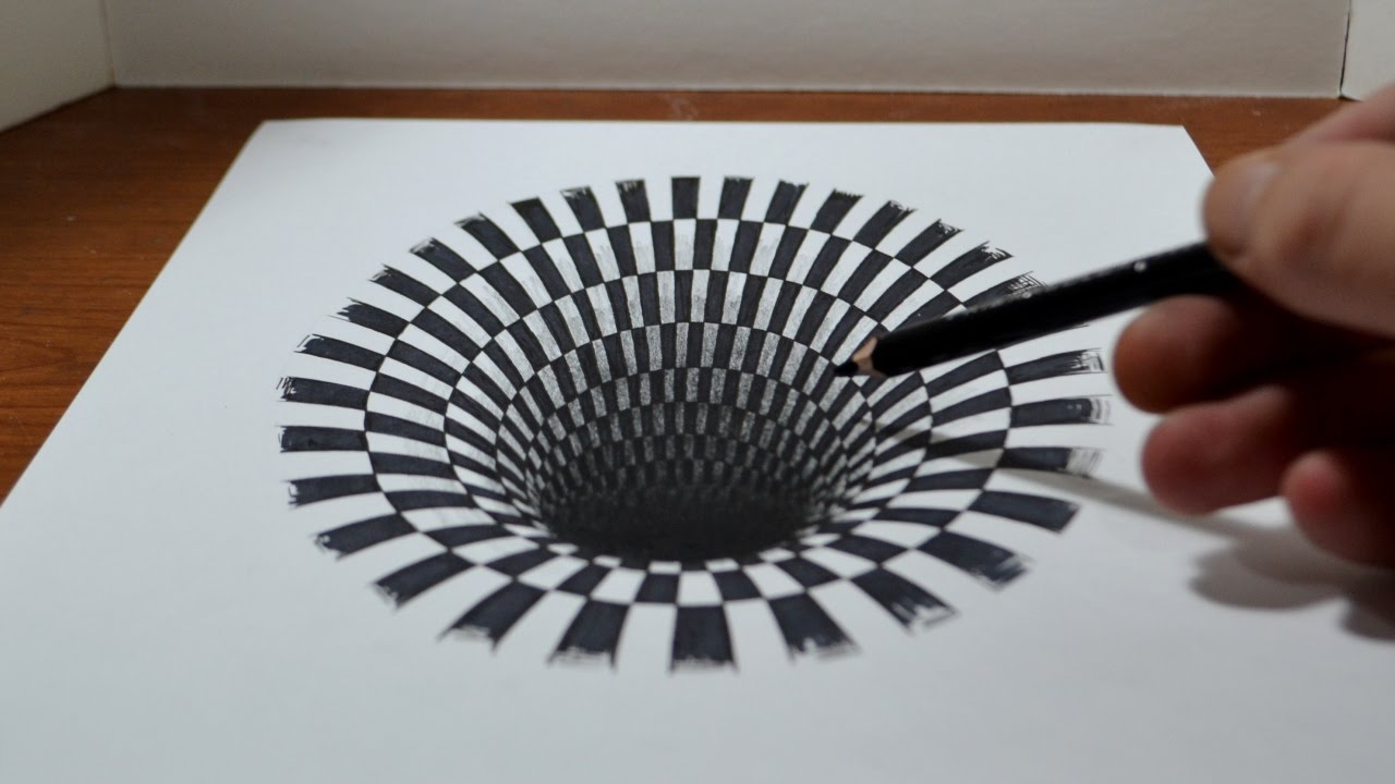 Drawn illusion Drawing  YouTube a Hole