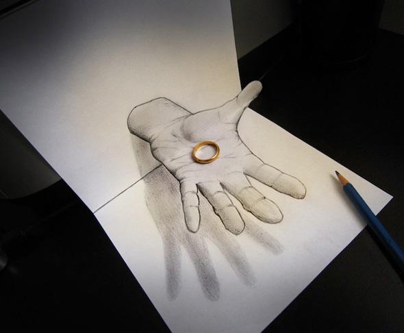 Drawn optical illusion pencil drawing The Page » RANDOM ILLUSION